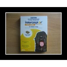 インターセプタースペクトルチュアブル中型犬用(11-22kg)6個入り